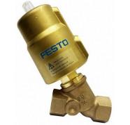 Седельные клапаны Festo с наклонным шпинделем. Серия VZXF